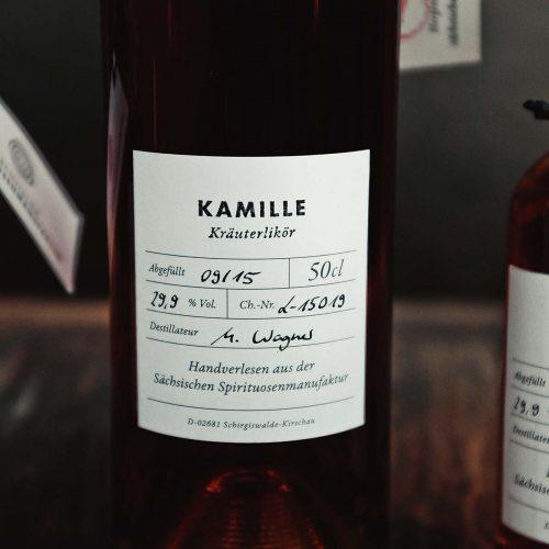 Kamille – Kräuterlikör der Sächsischen Spirituosenmanufaktur