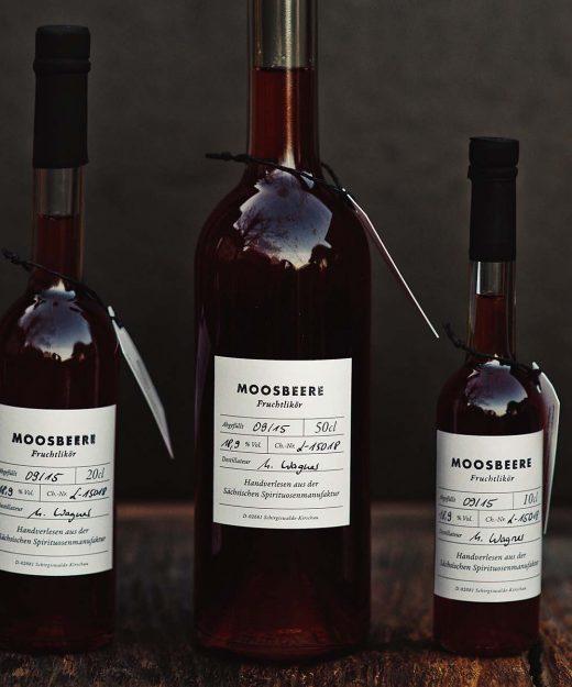 Moosbeere – Fruchtlikör der Sächsischen Spirituosenmanufaktur