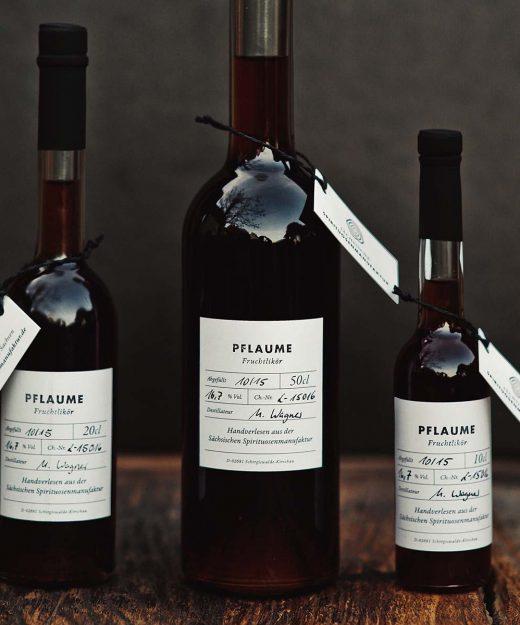 Pflaume – Fruchtlikör der Sächsischen Spirituosenmanufaktur