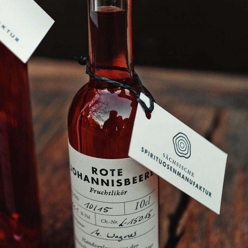 Rote Johannisbeere – Fruchtlikör der Sächsischen Spirituosenmanufaktur