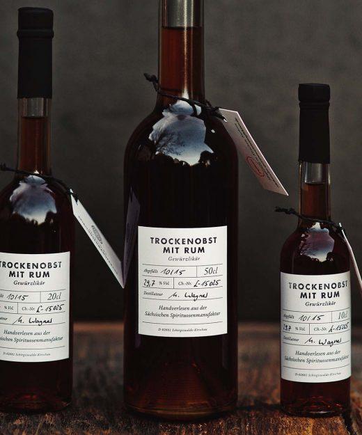 Trockenobst mit Rum – Gewürzlikör alle